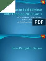 Pembahasan Seminar Februari 2013 Part 1