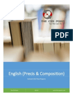 Solved CSS Past Papers of English (Precis & Composition)  Book II
