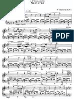 Chopin - Nocturne Op.15 No.1 Piano sheet music