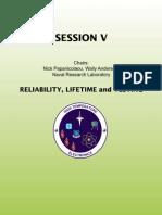 HighTemperatureElectronics ReliabilityLifetimeAndTesting Session V