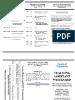 2013 TA Workshop Brochure