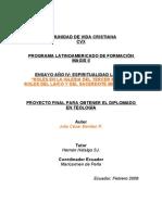 Benítez Julio. Roles del laico en la Iglesia del Tercer Milenio