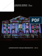 TCD Admission Requirements 2014