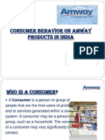 156695374 Consumer Behavior on Amway Products in India