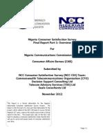 CAB-Nigeria Consumer Satisfaction Survey Overview