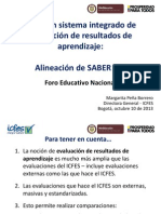 Alineacion PRUEBA SABER 11º- 2014