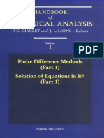 Elsevier - Handbook of Numerical Analysis V1 Part1 - Finite Difference Methods
