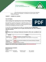 ORNAP CPE 2014 Invitation Letter