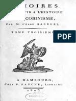 Abbé Barruel - Mémoires pour servir à l'histoire du jacobinisme. Tome III
