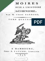 Abbé Barruel - Mémoires pour servir à l'histoire du jacobinisme. Tome IV