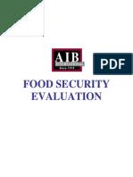 Food Security Evaluation