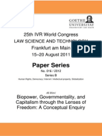 Governmentality, and Capitalism through the Lenses of Freedom