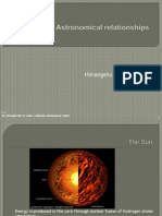 Sun-Earth Astronomical Relationships1