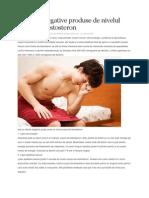 10 Efecte Negative Produse de Nivelul Scazut de Testosteron