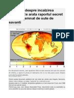 Adevarul Despre Incalzirea Globala. Ce Arata Raportul Secret Al ONU, Semnat de Sute de Savanti