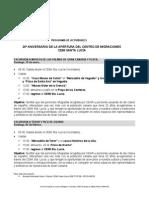 PROGRAMA DE ACTIVIDADES 20 ANIVERSARIO CEMI STA. LUCÍA