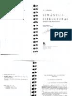 Greimas - 1987 - Semántica estructural. Investigación metodológica
