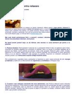 3 Posturi Yoga Pentru Relaxare