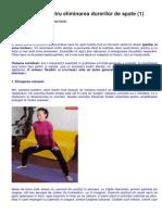 Posturi Yoga Pentru Eliminarea Durerilor de Spate
