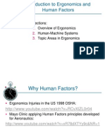 Introduction to Human Factors