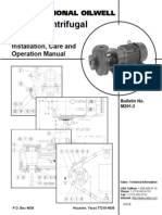 National Sw Centrifugal-Installation, Care and Operation
