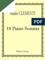 Muzio Clementi 18 Piano Sonatas Edited by Ignaz Mo 74791 1