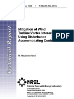 1 Mitigation of Wind Turbine -Vortex Interaction Using Disturbance Accommodating Control