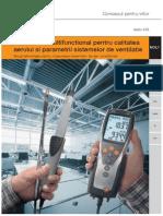 TESTO - Instrument Multifunctional Pentru Calitatea Aerului Si Parametrii Sistemelor de Ventilatie