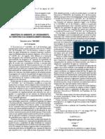 Decreto-Lei n.º 306. 2007, de 27.08 , Águas