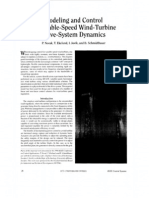 5 Modeling and Control of Variable Speed Wind Turbine Drive System Dynamics