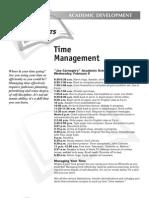 Time Management - Academic Development