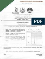 Soalan Pendidikan Moral Percubaan SPM Perak 2011