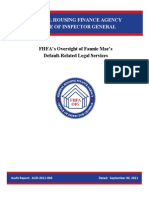 FHFA's Oversight of Fannie Mae's Default Related Legal Services