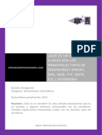 DV00408A Que Es Un Servidor Principales Tipos Proxy Smtp Ftp Web DNS