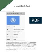 Organización Mundial de la Salud TEMA 7