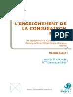 Enseignement Conjugaison FLE Representations D-Enseignants Guerif-2012