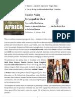 Fashion Africa Press Release