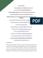 HOR Call for Book Chapter Proposals_Noor Zaman King Faisal University