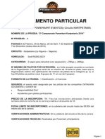 Reglamento Powerkart Kartpetania Campeonato 2014