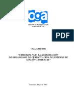 Criterios de Acreditacion Para Organismos de Certificacion de SGA en Guatemala