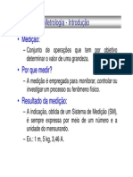 Introducao Metrologia - Slides Resumo