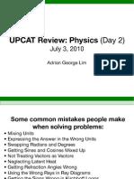 UPCAT Physics