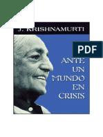 Ante Un Mundo en Crisis_krishnamurti