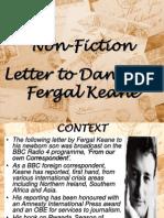 Letter to Daniel
