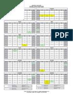 Calendário de Feriados 2013