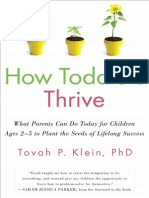 How Toddlers Thrive by Tovah Klein - read an excerpt!