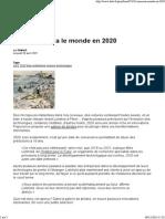 Comment Sera Le Monde en 2020