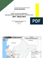 OBRAS PROVIAS 2011 - 2013