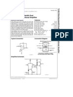 TL082 Wide Bandwidth Dual JFET Input Operational Amplifier