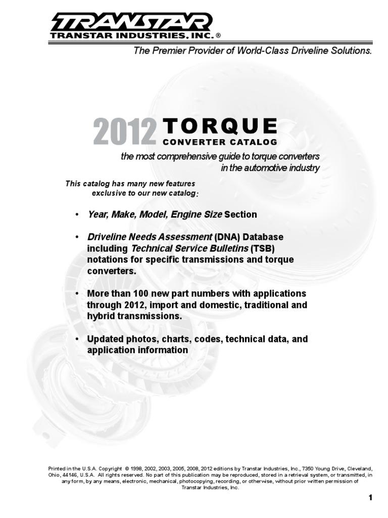 Torque converter catalog 2012 lores fandeluxe Gallery